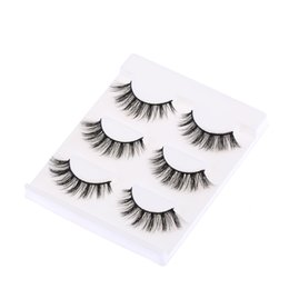$enCountryForm.capitalKeyWord UK - 3pairs Black Long Cross Makeup 3d False Eyelashes Thick Natural 2019 Cross Fake Eye Lashes Extension Tools