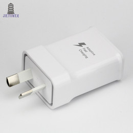 sharp adapter Australia - S6 AU Plug quick fast charger 2.0 9.0V 1.67A or 5.0V 2A Home Wall Adapter Charger For Samsung Galaxy Note3 S6 s7 s8