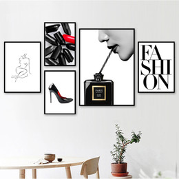 Art Church Australia - Fashion Paris Perfume Church body Art Nordic Posters And Prints Wall Art Canvas Painting Wall Pictures For Living Room Decor