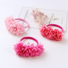 kids ponytail hair tie holder 2019 - 1pc Multi-layer Flower Elastic Hair Bands Girls' Hair Clips Kids Accessories Ponytail Holder Tie Gums Free Shipping