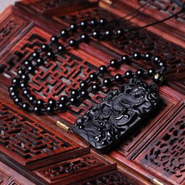 $enCountryForm.capitalKeyWord Australia - Fine Jewelry Natural Obsidian Superb Manual Fly Dragon Bathing Amulet Pendant Necklace Free Shipping
