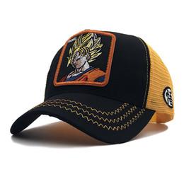 Ingrosso Estate snapback ricopre i cappelli papà uomini Dragon Ball Z berretto da baseball del ricamo womern hip hop per il cappello camionista gli uomini di moda Gorras goku