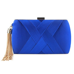 wholesale small evening bags NZ - Women Evening Clutch Purse Party Wedding Dinner Small Purse Tassel Fashion Lady Chain Shoulder Handbags For Female Bag