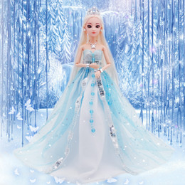 pp housing Australia - Ice Princess Wedding Dress A Doll Suit Toys Girl Doll Facelift Gift Box House Send Gifts Birthday Gift