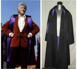 doctor cosplay Australia - Third Doctor Inverness Cape uniform Cosplay costume custom made
