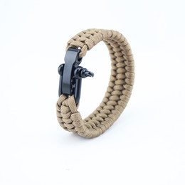 $enCountryForm.capitalKeyWord UK - Classic Design High Quality Handmade Paracord Bracelet Mens and Womens Outdoor Sports Bracelet with Steel Buckle