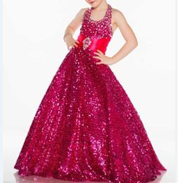 $enCountryForm.capitalKeyWord Canada - Sequin Lace Formal Floor Length Flower Girl Dresses Children Birthday Dress Kids Wedding Party Dresses For Dance