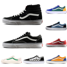 Fashion canvas boots men online shopping - 2019 Original YACHT CLUB Vans old skool FEAR OF GOD black white MARSHMALLOW green PRIMAR men women sneakers fashion skate casual shoes
