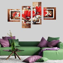 $enCountryForm.capitalKeyWord Australia - wholesale 5d Diamond Painting Full Drill Square Scenery Pictures Of Rhinestones Home Decoration 4pcs Diamond Embroidery Sale Flower