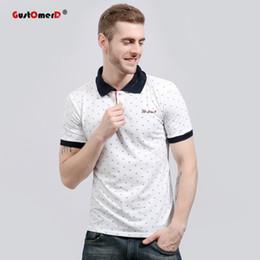 Men S Polos Australia - Us Size S -Xxl 2017 Summer Fashion Brand Clothing Polo Shirt Slim Fit Print Polos Casual Short Sleeve Social Polo Shirt Men