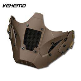 Discount tactical helmet accessories - Vehemo Assembled Tactical Masks Headset Half Face Masks Outdoors Mask for Helmet Accessories Head Mounted Adorn for Prot
