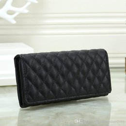 ladies branded handbags cheap 2019 - Designer luxury handbag purse simple rhombic wallet famous brand fashion single zipper cheap luxury designer women pu le
