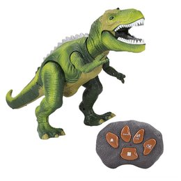 remote control dance Canada - Intelligent Roaring Dinosaur Walking Dance Parts & Accessories Electric remote control Light Interactive RC Robot Kids Toy Electronic Dinosa
