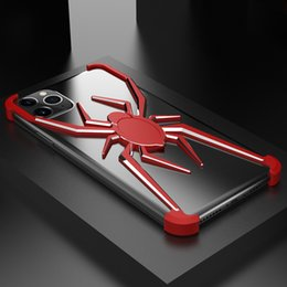 Spider man cover caSe online shopping - R JUST Aluminum Metal Spider Case For iPhone Pro Max XS Max XR X Plus Case Cover Iron Man Armor Phone Shell Skin Bag T191017