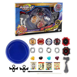 $enCountryForm.capitalKeyWord NZ - 4Pcs set Beyblade Burst with Battle Plane grip launcher Toys for Children Gyro Battle Pull Handle Wheel Arena Set 168-10