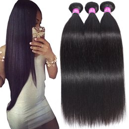 Discount malaysian straight hair 24 inches - 9A Brazilian Straight Virgin Hair Wefts 3 4 5Bundles 100% Unprocessed Brazilian Straight Body Wave Loose Wave Curly Huma