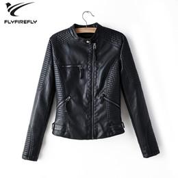 $enCountryForm.capitalKeyWord Australia - Black leather jacket women zipper faux leather coat white biker jacket long sleeve streetwear Korean Motorcycle pu 2019