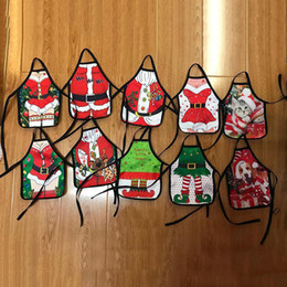 Wine Christmas Ornament Australia - Newest Christmas Santa Wine Bottle Apron Wrap Cover Xmas Dinner Party Table Decor