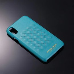 Knit phone case online shopping - One Piece Luxury PU phone case For iPhone S P X XS XR fashion hand knitted Designer phone case back cover