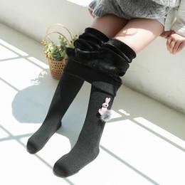 $enCountryForm.capitalKeyWord NZ - Warm Lamb Wool Girls Tights For Winter Cute Rabbit Decor Baby Girls Clothes Baby Stockings 1pcs Child Tight Kids Pantyhose 2-12y J190523