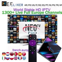 $enCountryForm.capitalKeyWord NZ - high quality smart IPTV box 4G 64G H96 max with 1year subscription NEOTV arabic France Indian African Channels for android 9 tv box