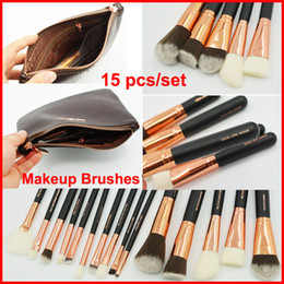 Wholesale brush loves for sale - Group buy Rose Gold Makeup Brush Set Color Love Makeup Tool Face and Eye Brushes kit with Bag Eyeshadow Eyeliner Powder Foundation Blush Brush