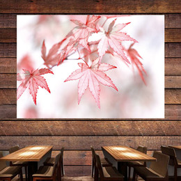 Painting Plants Australia - Nordic Maple Leaf Green Planting Trend Decorative Tapestry Background Wall Home Bedroom Bedside Living Room Wall Decorative Tapestry Art Pai