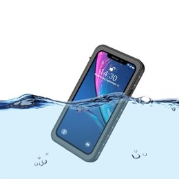 underwater case for iphone UK - 360 Full Body Underwater 2m Waterproof Case For iPhone XR XS Shockproof Underwater Heavy Duty Protection Case For iPhone XS Max Cover Coque