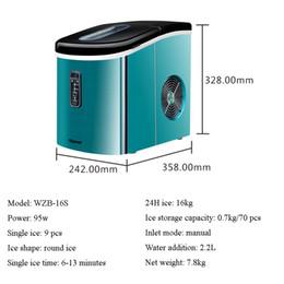 Block Maker Australia - Mini Automatic Electric Ice Maker Portable Bullet Round Block Ice Cube Making Machine Small Bar Coffee Shop 15kg