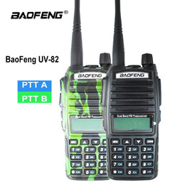 ptt radios Australia - Orginal Baofeng UV-82 Walkie Talkie UV 82 Portable Two way Radio Dual PTT Ham CB Radio Station VHF UHF UV82 Hunting Transceiver