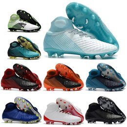 Magista Boots Size NZ - New Mens High Ankle Football Boots Magista Obra II FG Soccer Shoes Original Magista 2 Superfly ACC Outdoor Soccer Cleats