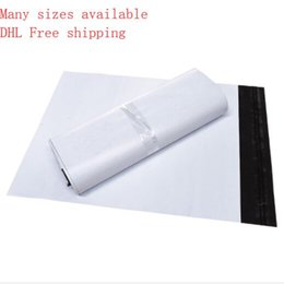 Poly enveloPes online shopping - Best Quality White color self adhesive Poly Mailer White poly mailing post envelope pouches Plastic Express Courier bags Made by new materi
