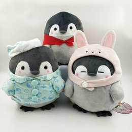 Cartoon ComiCs online shopping - Cute Cartoon Penguin Plush Doll Pajamas Rabbit Cape Pillow Toy Doll cm Penguin Stuffed Animals Plush Toys