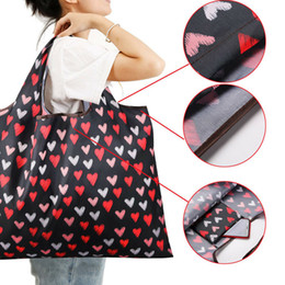 fruits foldable bag Australia - New Lady Foldable Recycle Shopping Bag Eco Reusable Shopping Tote Bag Cartoon Floral Fruit Vegetable Grocery