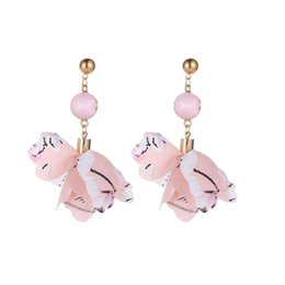 Earrings United States UK - Europe and the United States the new contracted copper inlay zircon little deer earrings speed sell tong boutique antlers stud earrings Chri