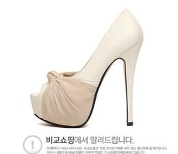 $enCountryForm.capitalKeyWord Australia - Alluring2019 Fish 2015 Waterproof Platform Bow Shallow Mouth High-heeled Single Shoe Women's Shoes 3790