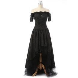 $enCountryForm.capitalKeyWord UK - Black Prom Evening Dresses Hi-Lo Front Short Sleeve Long Back Long Elegant vestidos de festa Real Custom Plus Size For Formal Occasion