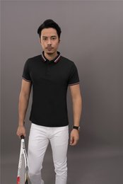 $enCountryForm.capitalKeyWord NZ - Linen beaded T-shirt group dress polo shirt tailored work clothes short sleeve lapel LOGO