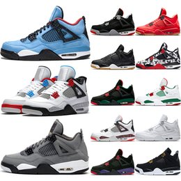 $enCountryForm.capitalKeyWord Australia - Cheap 4 Men Basketball Shoes 4s Cool Grey OG Bred For 2019 White Cement Mens Athletic Sport Sneaker Size 41-47 Drop Shipping