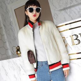 e7f5f26ecdce3 2018 manteau de fourrure automne hiver coréen nouvelle imitation fourrure  vison faux manteau uniforme de baseball courts manteaux de velours veste  femme