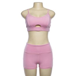 Fitness Clothing For Women UK - Sports Top Sport Bra Set Yoga Shorts Tracksuit Fitness Suits For Women Sports Wear For Women Gym Yoga Sets Women Gym Clothes