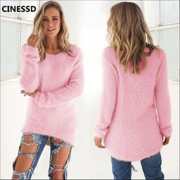 $enCountryForm.capitalKeyWord Australia - CINESSD Solid Pullover Sweaters Women O Neck Long Sleeve Knitted Tops 2019 Autumn Winter Cotton Wool Loose Casual Tunic Sweaters