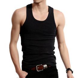 Discount cheap black vests - Cheap Underwear Men Undershirt Sleeveless Cotton Plain Slimming Vest Bodysuit Croset Singlet Inner Shirt Back White Gray