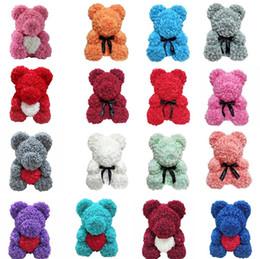 Wholesale new borne for sale – custom New eternal life rose bear Christmas gift Foam Rose Flower birthday party Teddy Bear wedding gift T8