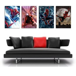 League Legends Figure Australia - League of legends Spiderman -3,4 Pieces Home Decor HD Printed Modern Art Painting on Canvas  Unframed Framed