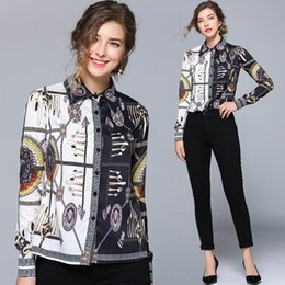 $enCountryForm.capitalKeyWord Australia - New Style Spring Fall Runway Women's Luxury Fashion Paisley Floral Print Blouses Shirts Elegant Office Lady Sexy Slim Celebrity Shirts Tops