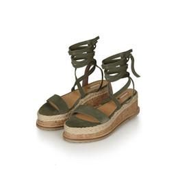 $enCountryForm.capitalKeyWord UK - Womens Open Toe Espadrille Ankle Strap Boho Flatform Sandals Cross Strapy Wedge Sandal Straw Casual Shoes Plantform Shoes