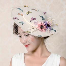 $enCountryForm.capitalKeyWord Australia - Elegant Fashion Women's Church Hats For Women Flower Hat Summer Sun Hat Wedding Kentucky Derby Wide Brim Sea Beach