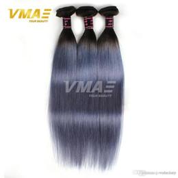 $enCountryForm.capitalKeyWord Australia - 1B gray Straight Brazilan Human Hair Extensions Ombre Color Virgin Human Hair Brazilian Virgin Human Hair 8-30 inches Free Shipping