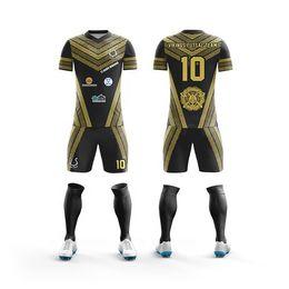fcf5375ec 2019 new fan Soccer Uniforms blank Customize Adults   children Short Sleeve Soccer  Jerseys Kit youth Kids Football Training jersey Set